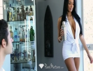 Exotic Anissa Kate serves drinks from her pussy