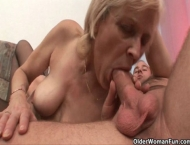 Grandma knows best how to drain your balls