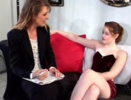 Horny lesbian milf fucks young woman