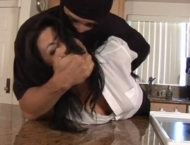 Gina Rae Bound and Gagged in her kitchen