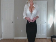 Sexy blonde doctor helps relieve your stress- anyone know her name?